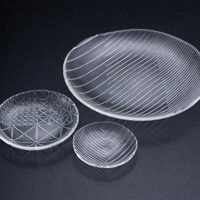 ガラス 舫皿